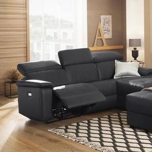 Home affaire Ecksofa »Binado«, Wahlweise mit manueller oder elektrischer Relaxfunktion mit USB-Anschluss, Federkern-Polsterung