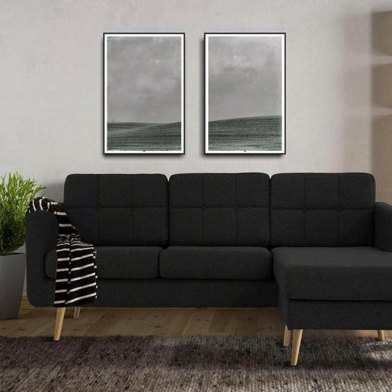 Home affaire Ecksofa »Brest«, mit Knopfheftung und Steppung im Rücken, geradliniges Design