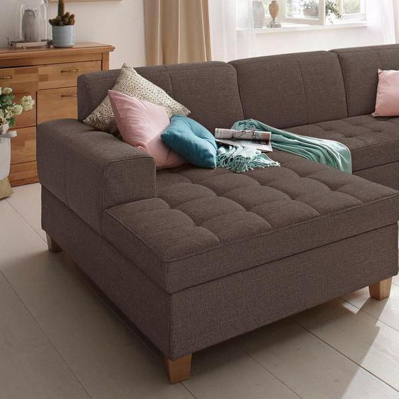Home affaire Ecksofa »Corby«, mit Bettfunktion, Récamiere rechts oder links, FSC®-zertifiziert, braun, mit Schlaffunktion