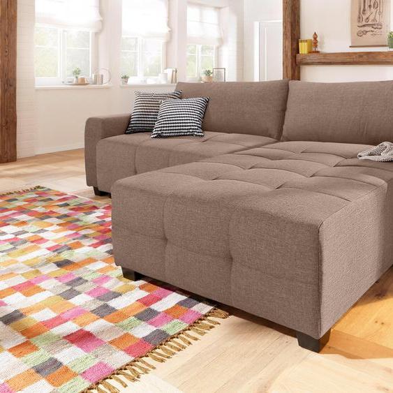 Home affaire Ecksofa, mit Bettfunktion, Landhaus-Stil, braun »Bella«, mit Schlaffunktion