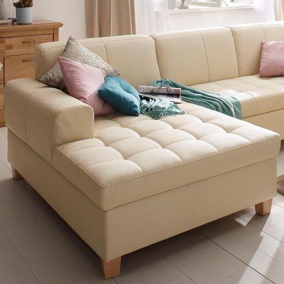 Home affaire Ecksofa, mit Bettfunktion, Récamiere rechts oder links, FSC®-zertifiziert, beige »Corby«, mit Schlaffunktion
