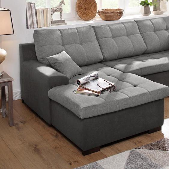 Home affaire Ecksofa, mit Bettfunktion, Récamiere rechts oder links, grau »Föhr«, mit Schlaffunktion