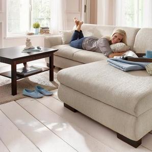 Home affaire Ecksofa »Nika«, MELROSE®, Microfaser oder Struktur, wahlweise mit Bettfunktion