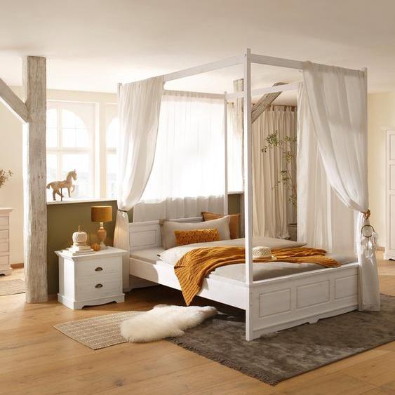 Einzelbett »Eva«, 148.5x210.5x85.5 cm (BxLxH), FSC®-zertifiziert, Home affaire, weiß, Material Kiefer