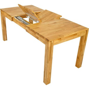 Home affaire Essgruppe »Edward/Luz«, (Set, 5-tlg), bestehend aus Edward Esstisch 120 cm und 4er Set Luz Stühle mit einem Microfaser Bezug