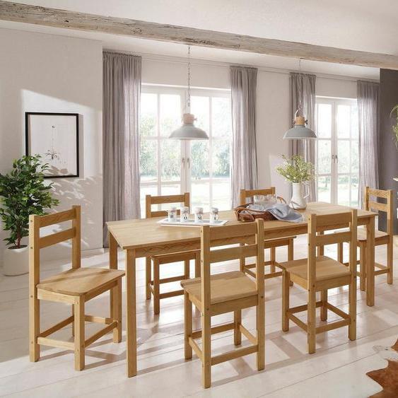 Home affaire Essgruppe »Indra«, (Set, 7-tlg), Tisch 160 cm breit
