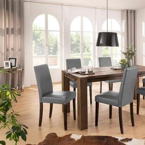 Home affaire Essgruppe »Liva«, (Set, 7-tlg), bestehend aus 6 Lucca Stühlen und dem Mary Esstisch