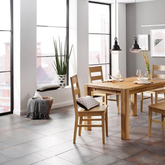 Home affaire Essgruppe »Nils 6«, (Set, 5-St., Tisch 140/90 cm, 4 Stühle, Holzsitz), aus Massivholz