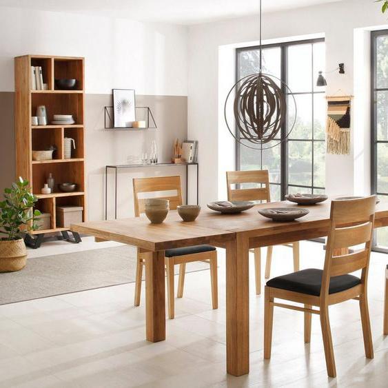 Home affaire Essgruppe »Nils 5«, (Set, 5-St., Tisch 180/90 cm, 4 Stühle, Polstersitz), aus Massivholz