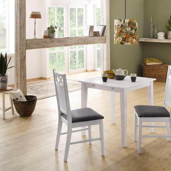 Home affaire Essgruppe »Olvera«, (Set, 3-tlg), aus massivem Kiefernholz, bestehend aus Fullerton Esstisch 80 cm und 2er Set Sonoma Esszimmerstühlen (3-tlg)