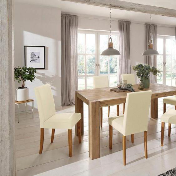 Home affaire Essgruppe »Silje«, (Set, 7-tlg), bestehend aus 6 Lucca Stühlen und dem Maggie Esstisch