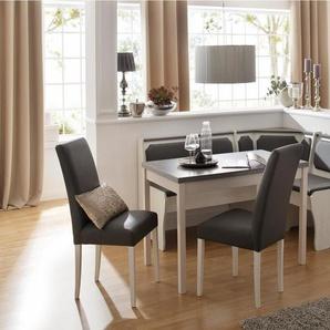 Home affaire Eckbankgruppe »Spree«, 4-teiliges Set bestehend aus Eckbank, Tisch und 2 Stühlen