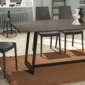 Home affaire Esstisch »Bridge«, mit einer 2 cm starke Tischplatte, im hochwertigen italienischen Design, mit einem Metallgestell, Breite 180 cm