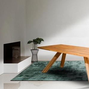 Home affaire Esstisch »Lasi« aus massivem Eichenholz, mit ausgestellten Beingestell, Breite 200 cm