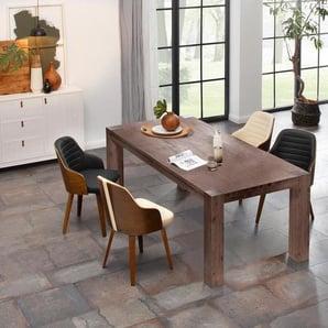 Home affaire Esstisch »Maggie«, in 3 Größen, aus massivem Akazienholz