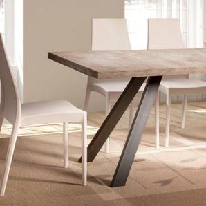 Home affaire Esstisch »Matera«, mit einer 4 cm starken Tischplatte, im hochwertigen italienischen Design, mit einem Metallgestell
