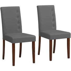 Home affaire Esszimmerstuhl »Boca« (Set, 2 Stück), mit einem schönen pflegeleichten Kunstlederbezug, wahlweise mit unterschiedlichen Beinfarben erhältlich, Sitzhöhe 47 cm