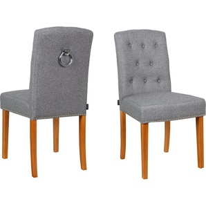 Home affaire 2er Esszimmer Stuhlset in zwei verschiedenen Farben »Liao«, grau, FSC®-zertifiziert