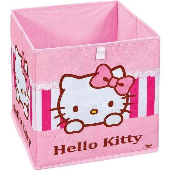 Home affaire Faltbox Hello Kitty 32x32x32 cm rosa Boxen Truhen, Kisten Körbe Schlafzimmer Aufbewahrungsboxen