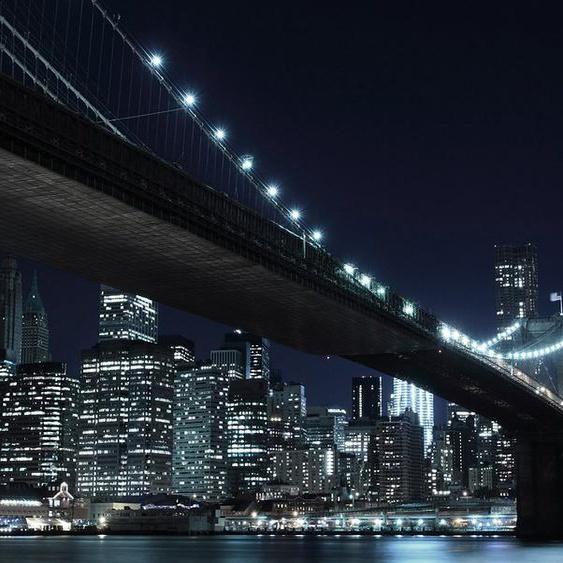 Home affaire Fototapete »New York by night«, (8 St), 272/198 cm, schwarz