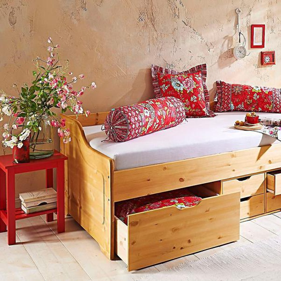 Home affaire Funktionsbett, FSC®-zertifiziert, beige, Material Kiefer / Massivholz »Anders«, robust»Anders«