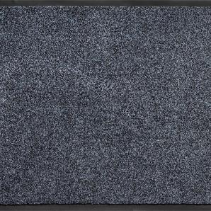 Home affaire Fußmatte Noyack, rechteckig, 7 mm Höhe B/L: 90 cm x 150 cm, 1 St. blau Designer Fußmatten
