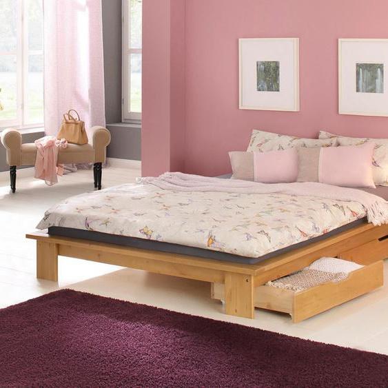 Home affaire Futonbett 90x200 cm beige Doppelbetten Betten