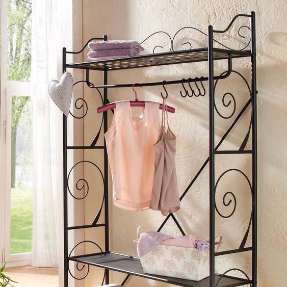 Home affaire Garderobe Princess 100x34x170 cm schwarz Kompaktgarderoben Garderoben Garderobenpaneele