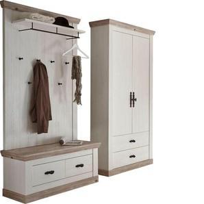 Home affaire Garderoben-Set , weiß, Landhaus-Stil, »Florenz«, ,
