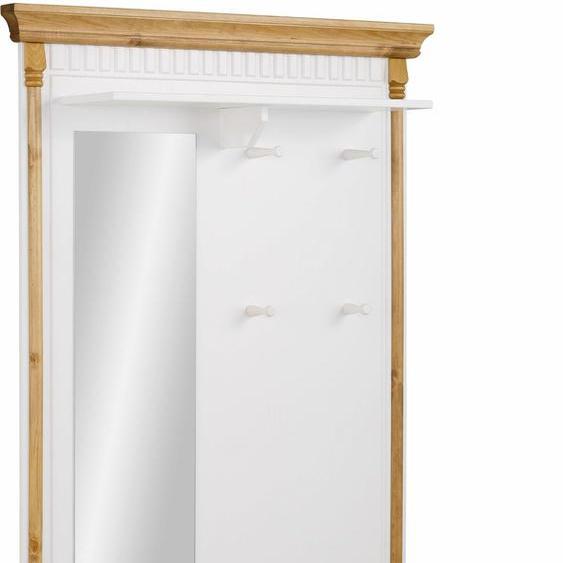 Home affaire Garderoben-Set Graz, aus massiver Kiefer, bestehend Garderobe und Truhenbank B: 93 cm weiß Kompaktgarderoben Garderoben