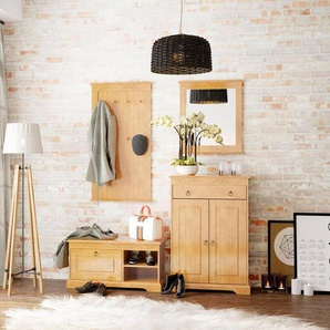 Home affaire Garderoben-Set »Sofia« (4-tlg.)aus massiver Kiefer