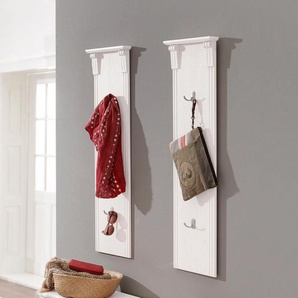 Home affaire Garderobenpaneel », als 2er-Set, Breite 30 cm je Paneel«, weiß, FSC-Zertifikat, , , FSC®-zertifiziert