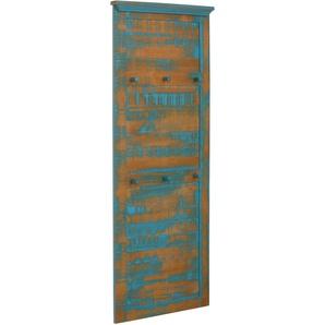 Home affaire Garderobenpaneel, aus massiver Kiefer, Breite 60 cm Einheitsgröße blau Garderobenpaneel Garderobenpaneele Garderoben