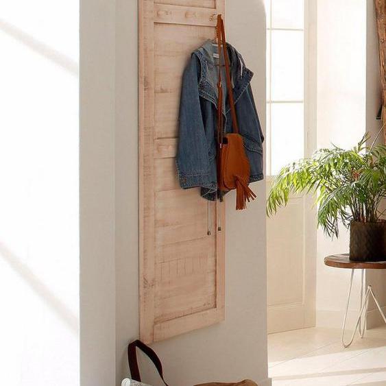 Home affaire Garderobenpaneel, aus massiver Kiefer, Breite 60 cm, weiß