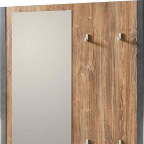 Home affaire Garderobenpaneel »Detroit«, mit 4 Kleiderhaken und 1 Spiegel
