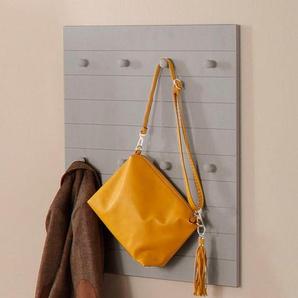 Home affaire Garderobenpaneel »Ella«, aus schönem massivem Kiefernholz, mit 8 Haken, Breite 65 cm