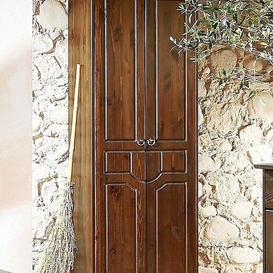 Home affaire Garderobenschrank, 67 x 187 x 37 BxHxT cm, Landhaus-Stil, FSC®-zertifiziert, braun, Material Kiefernholz »Klera«