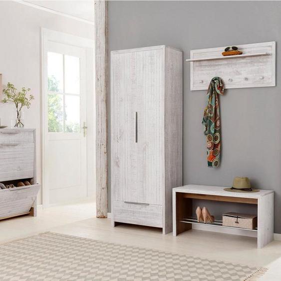Home affaire Garderobenschrank »Auckland« aus schönem massivem Kiefernholz, in zwei Farbvarianten, Höhe 180 cm