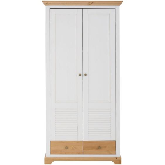 Home affaire Garderobenschrank »Ayanna«, 94 x 183 x 39 BxHxT cm, Landhaus-Stil, FSC®-zertifiziert, weiß