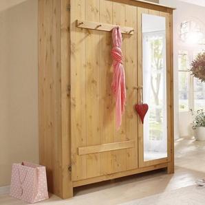Home affaire Garderobenschrank »Bertram« aus schönem massivem Kiefernholz, mit einer Spiegeltür, Höhe 170 cm