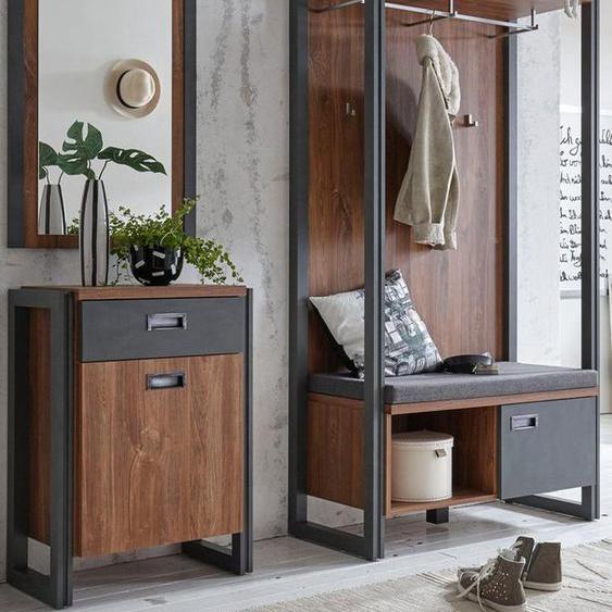 Home affaire Garderobenschrank »Detroit« 90 cm breit, im angesagten Industrial Look, braun