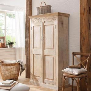 Home affaire Garderobenschrank Devdan, mit dekorativen Fräsungen oben, Breite 100 cm Einheitsgröße braun Diele und Flur Affaire