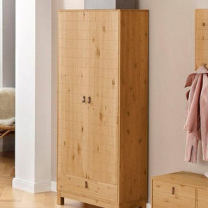 Home affaire Garderobenschrank »Ella« aus schönem massivem Kiefernholz, in verschiedenen Farbvarianten, Breite 75 cm