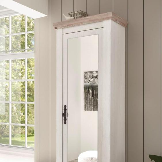 Garderobenschrank »Florenz«, 73x201x38 cm (BxHxT), Landhaus-Stil, Home affaire, Material Pinie, Holzwerkstoff, Metall