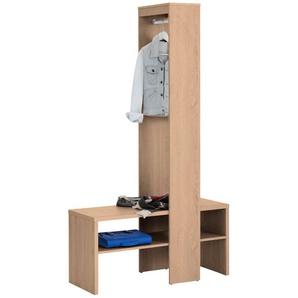 Home affaire Garderobenschrank »Harper« mit zwei offenen Fächern, inklusive einer Kleiderstange