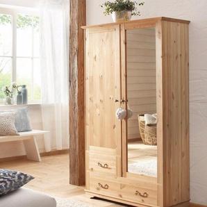 Home affaire Garderobenschrank »Lourdes« aus massiver Kiefer