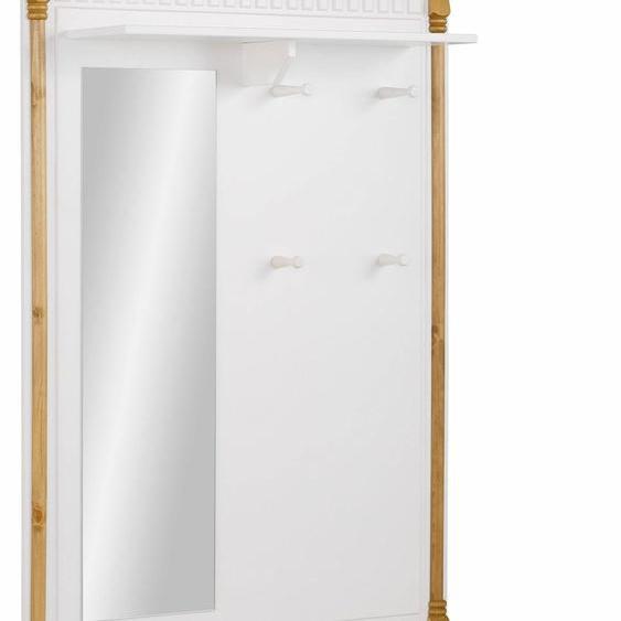 Garderobenset »Graz«, Breite 93 cm, Landhaus-Stil, FSC®-zertifiziert, Home affaire, weiß, Material Kiefer
