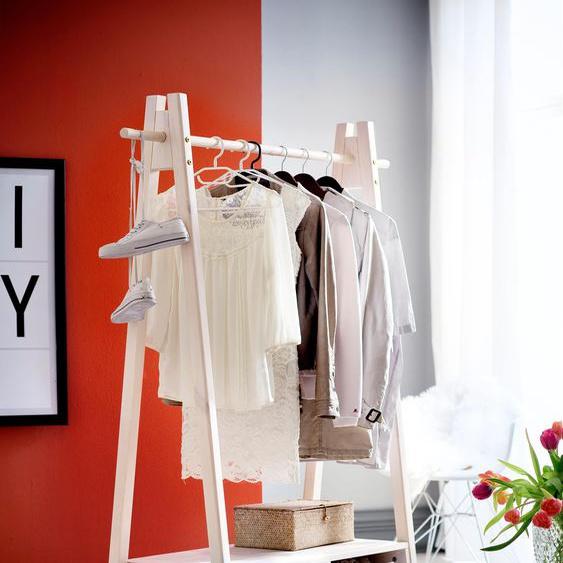 Home affaire Garderobenständer Ward 125x47x170 cm weiß Kompaktgarderoben Garderoben