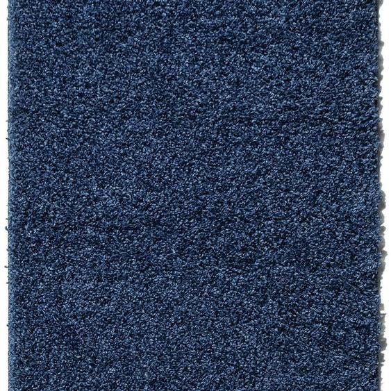 Home affaire Hochflor-Läufer Shaggy 30, rechteckig, 30 mm Höhe, gewebt 11, 60x230 cm, blau Moderne Teppiche Unisex