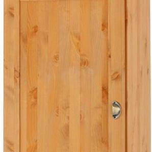 Home affaire Hochschrank »Oslo« 50 cm breit, in 2 Tiefen, 2 Türen, 1 Schubkasten, aus massiver Kiefer, Metallgriffe, Landhaus-Optik